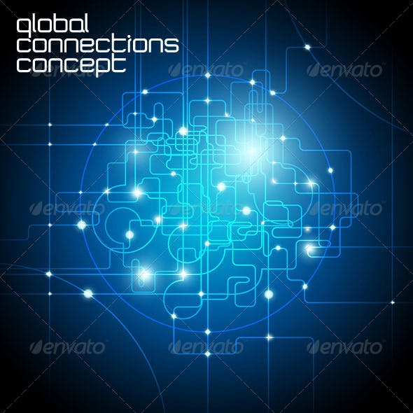Abstract Background - Global Connections Concept