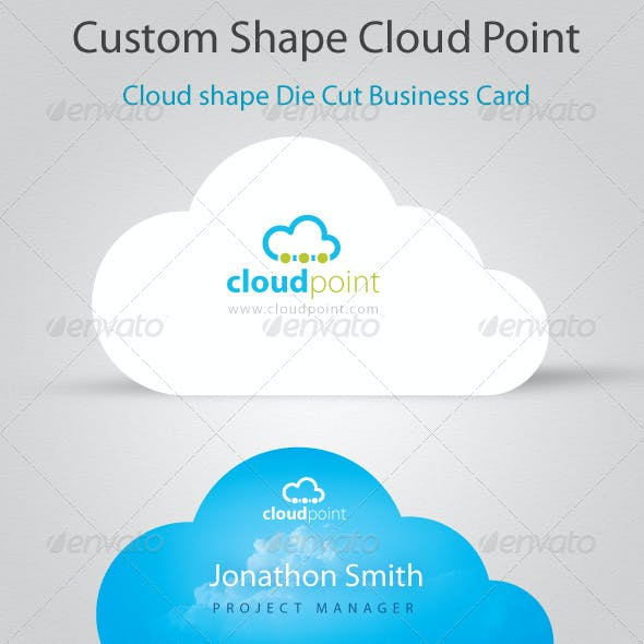 Cloud Point Custom Shape Die cut Business Card