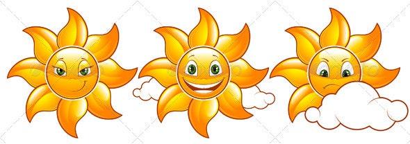 Vector set of suns - Characters Vectors