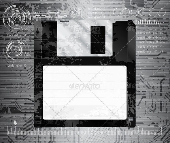 Grungy floppy - Computers Technology