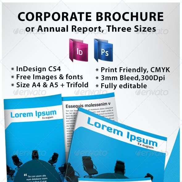 Corporate Brochure A4 + A5 + Trifold