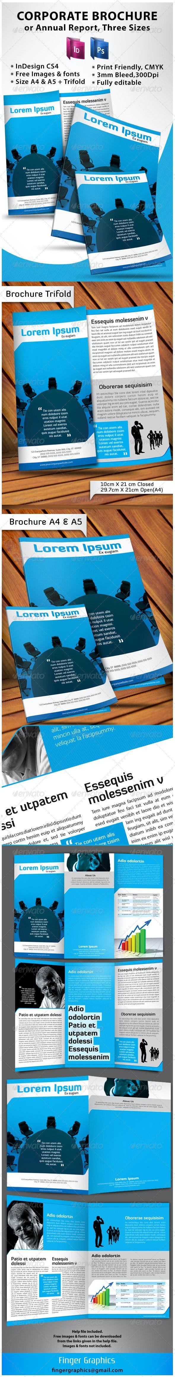 Corporate Brochure A4 + A5 + Trifold - Corporate Brochures