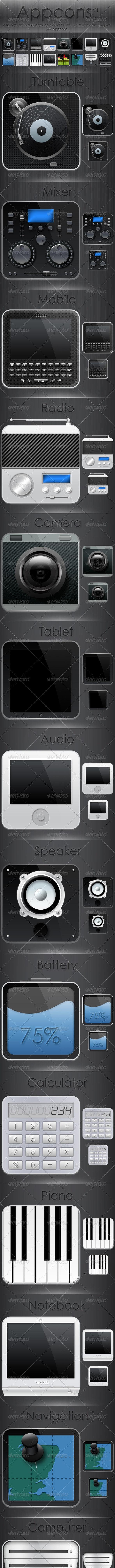 Appcons V1 - Technology Icons