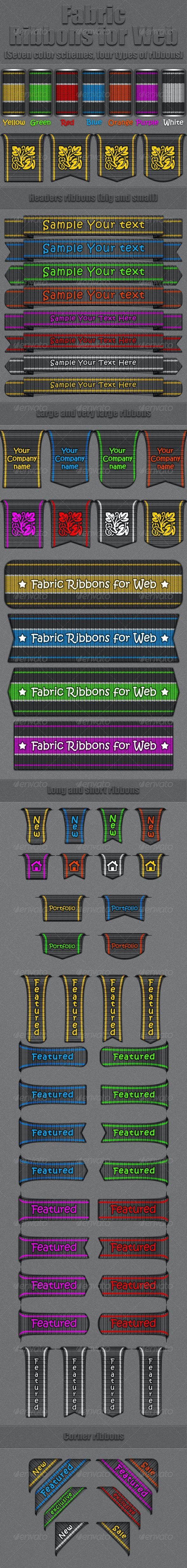 Fubric Ribbons for Web - Badges & Stickers Web Elements