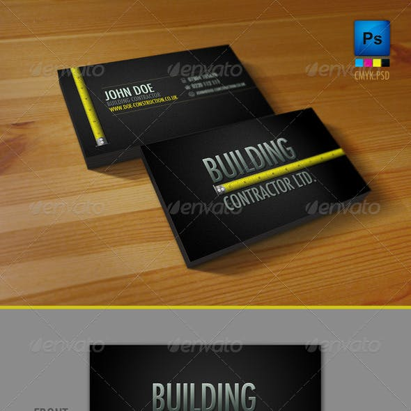 Professional Construction Workers Business Card