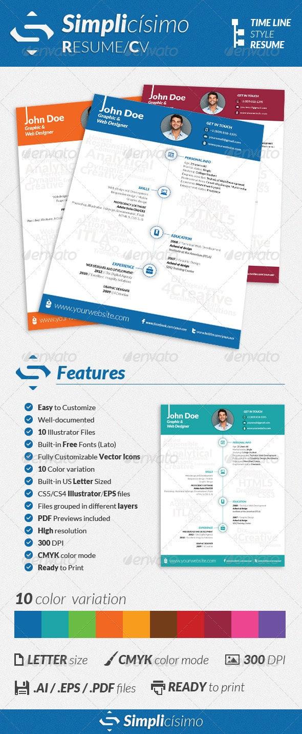 Simplicísimo - CV/Resume - Resumes Stationery