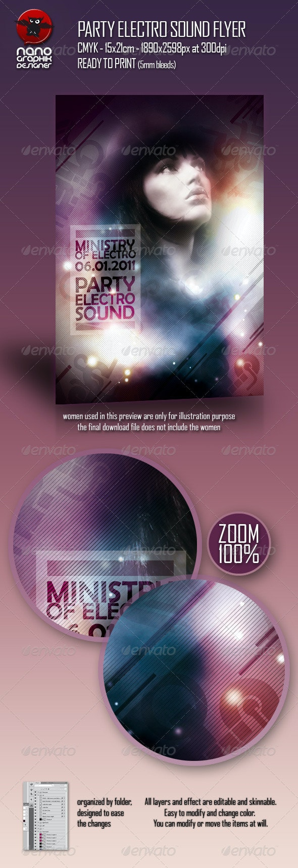 Party Electro Sound Flyer - Clubs & Parties Events