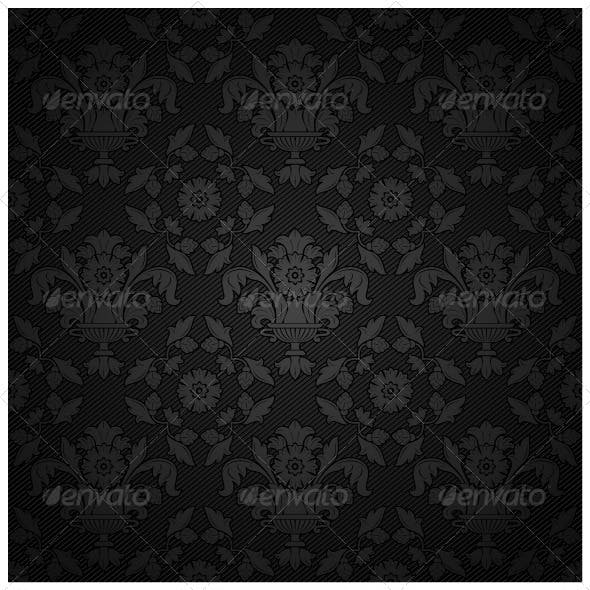 Corduroy Background - Black Ornament