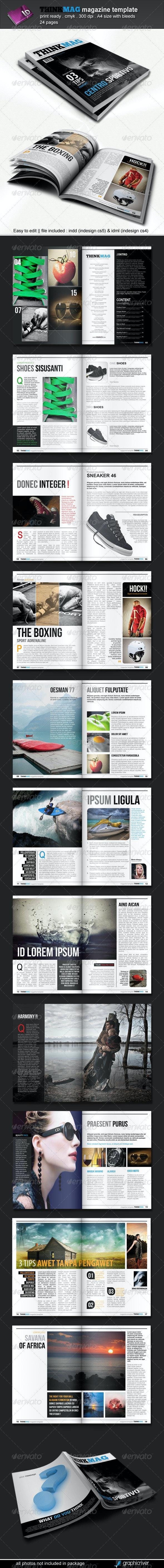 Thinkmag Magazine Template - Magazines Print Templates