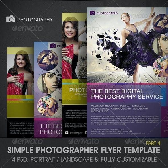 Simple Photographer Flyer Template