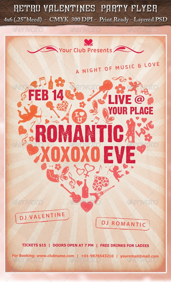 Retro Valentines Party - Clubs & Parties Events