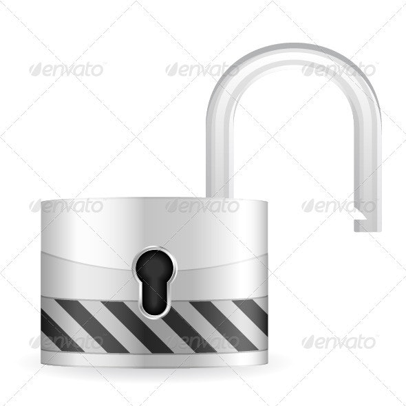 Open security padlock - Objects Vectors