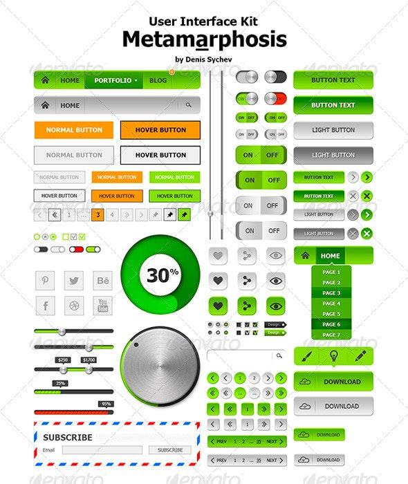 Web User Interface Kit - User Interfaces Web Elements