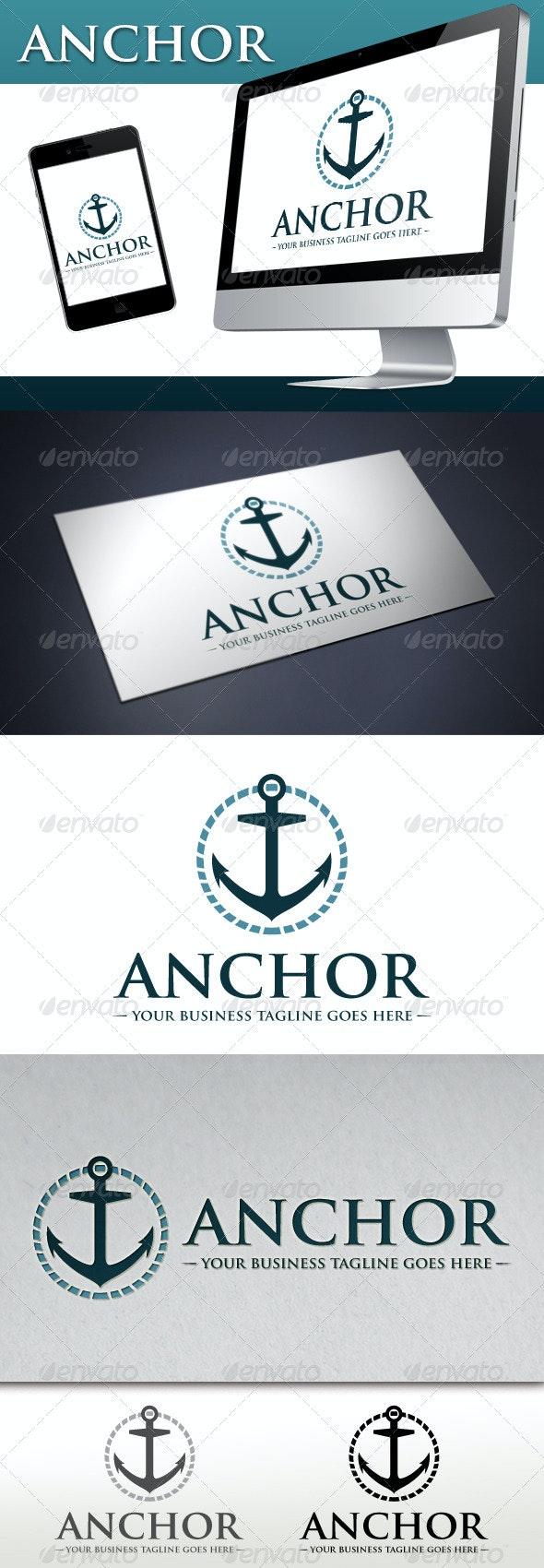 Marine Anchor Logo - Objects Logo Templates