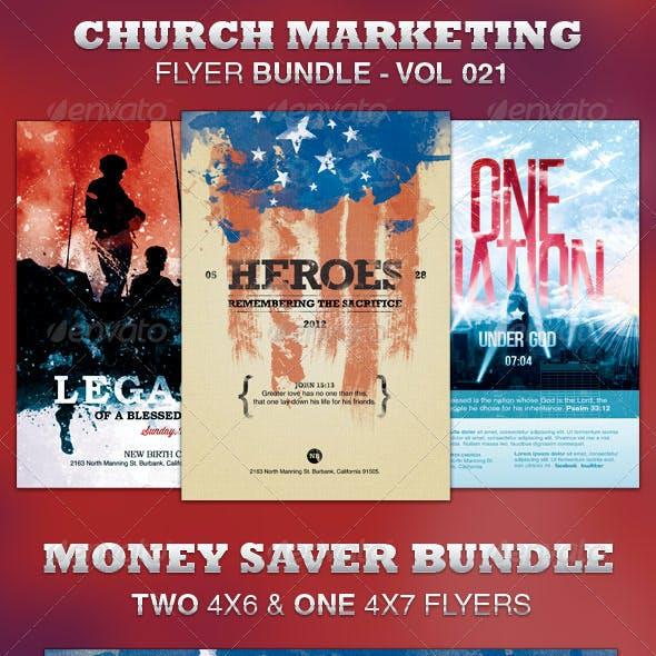 Church Marketing Flyer Bundle-Vol 021