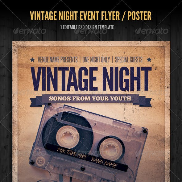 Vintage Night Event Flyer / Poster