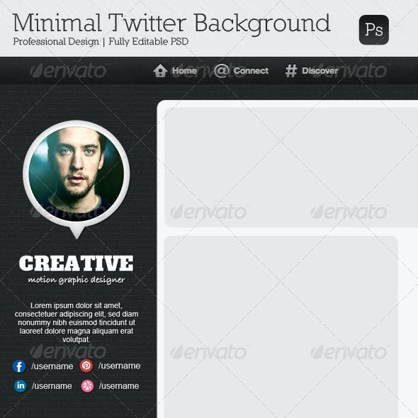 Minimal Twitter Background V7