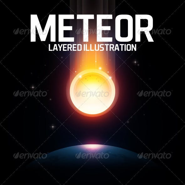 Meteor layered illustration