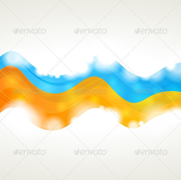 Vibrant vector wavy background - Backgrounds Decorative