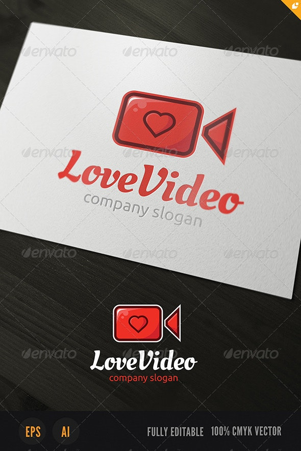 Love Video Logo - Objects Logo Templates