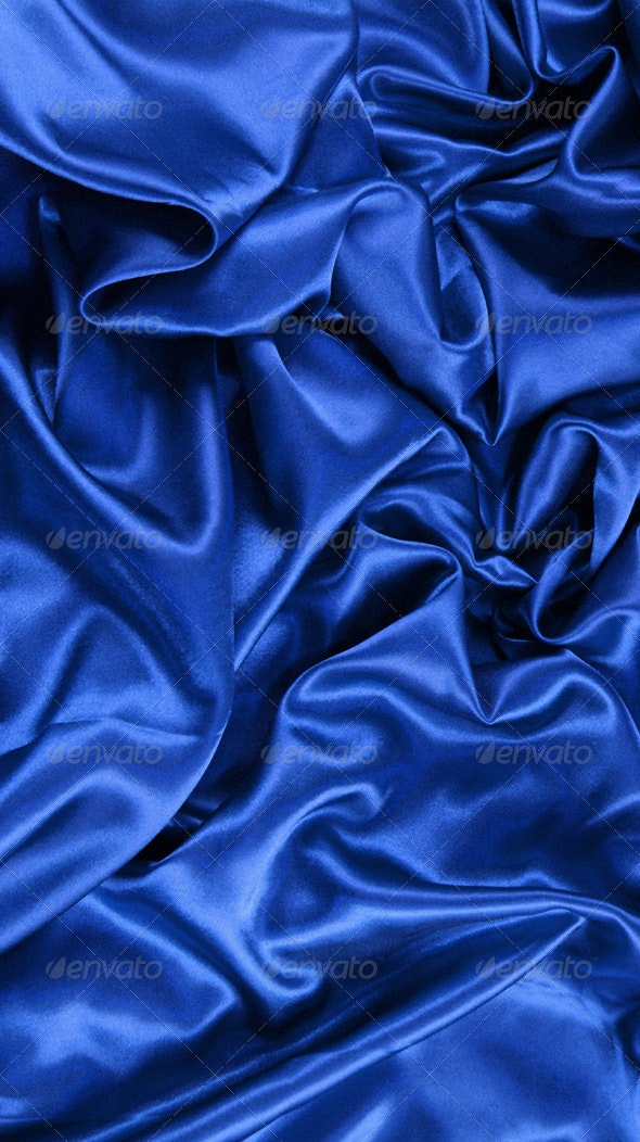 Blue Satin - Fabric Textures