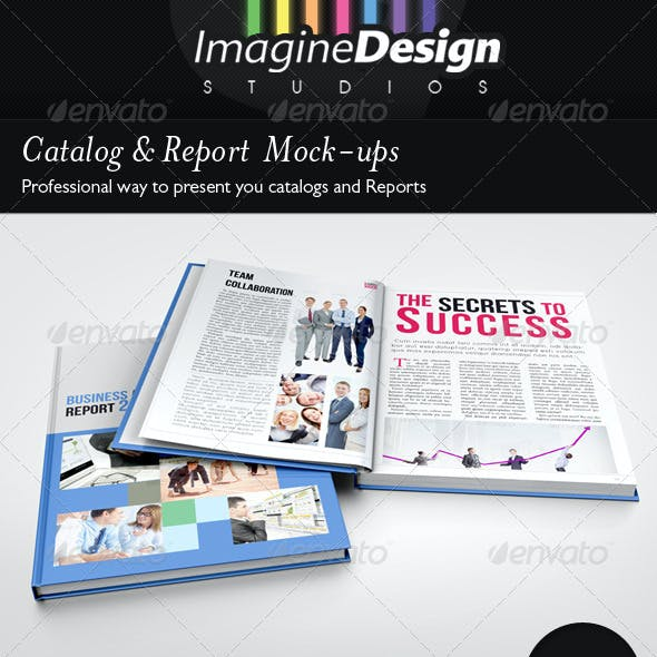 Photorealistic Catalog / Report Mock-up