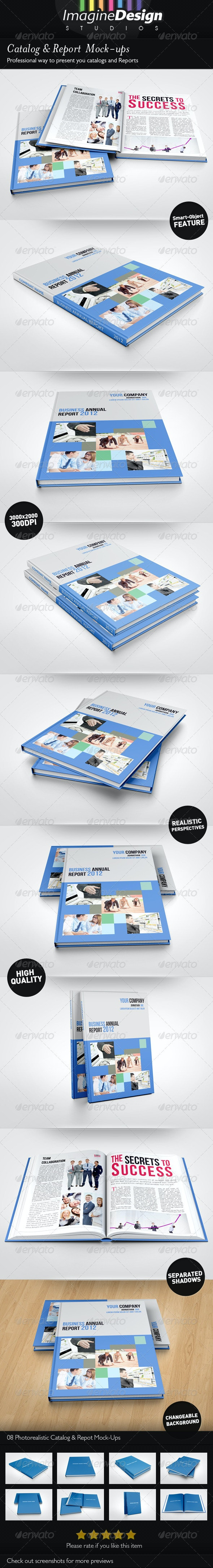 Photorealistic Catalog / Report Mock-up - Miscellaneous Print