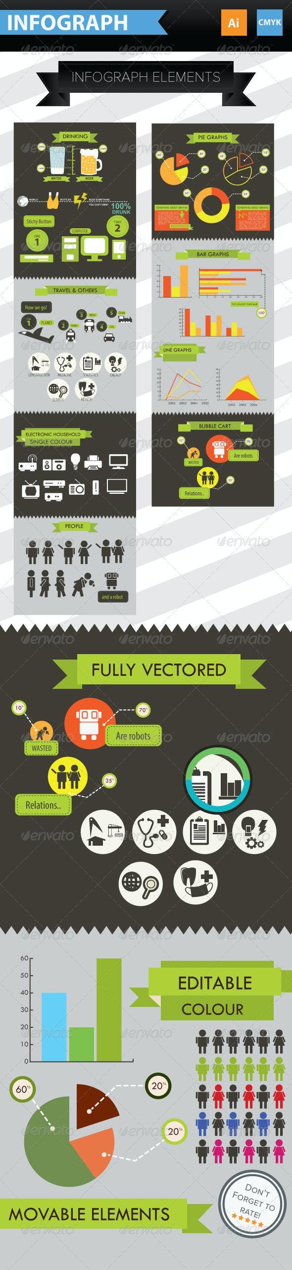 Infographic Elements + Icons - Infographics