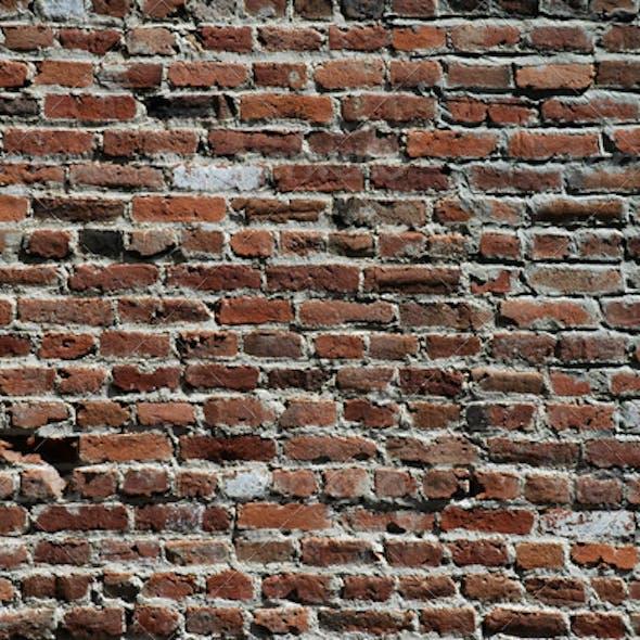 Distressed Brick Wall