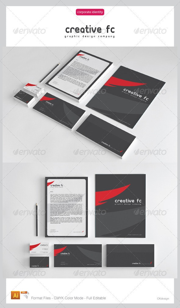 creative fc Corporate Identity Package - Stationery Print Templates