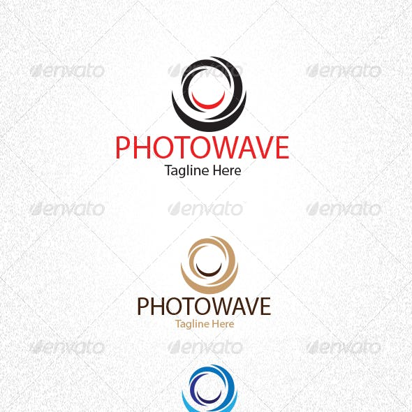 Photography and Wave Logo