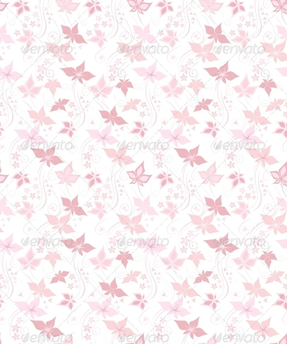 Pretty floral background - Patterns Decorative