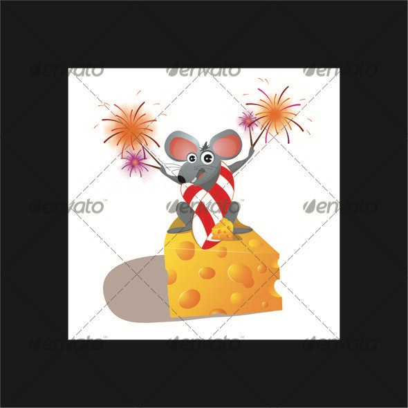 Festive Mouse - Animals Characters