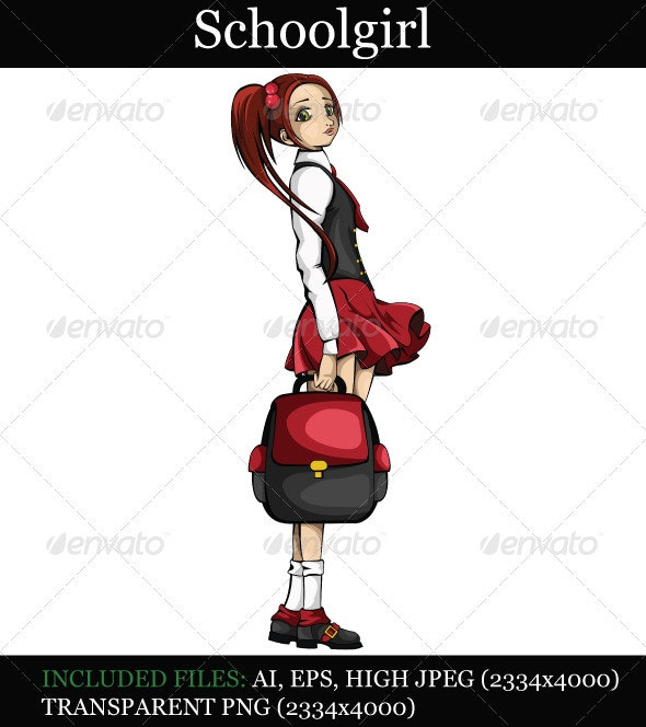 Schoolgirl  - People Characters
