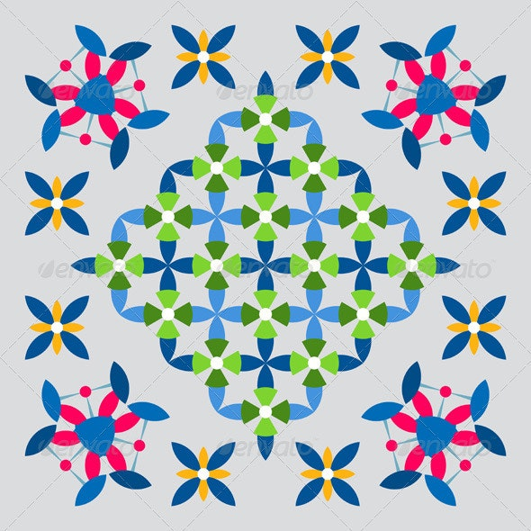 Ethnic Abstract Ornaments - Decorative Symbols Decorative