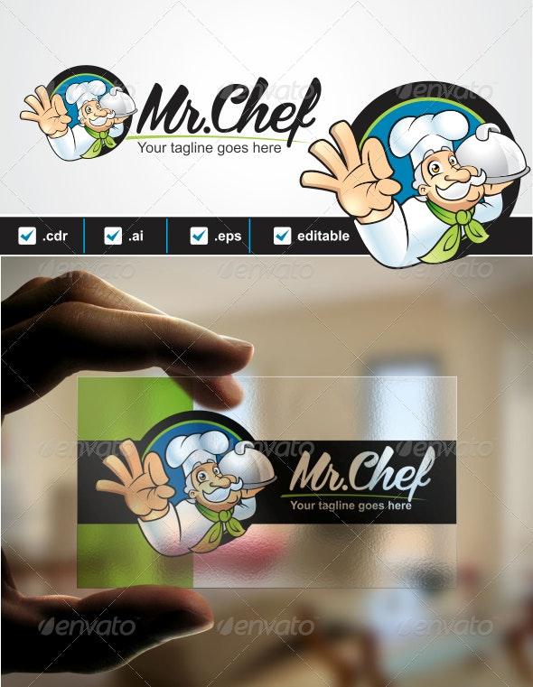 Mr. Chef Logo - Humans Logo Templates