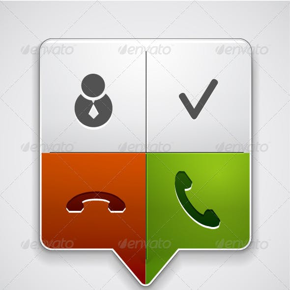 Vector Metal Phone Call Pointer