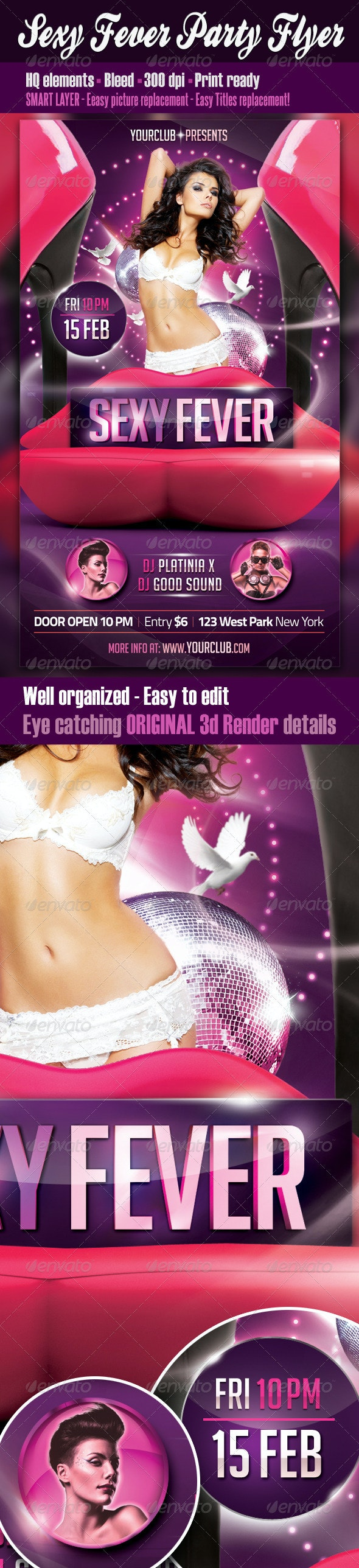 Sexy Fever Party Flyer - Clubs & Parties Events