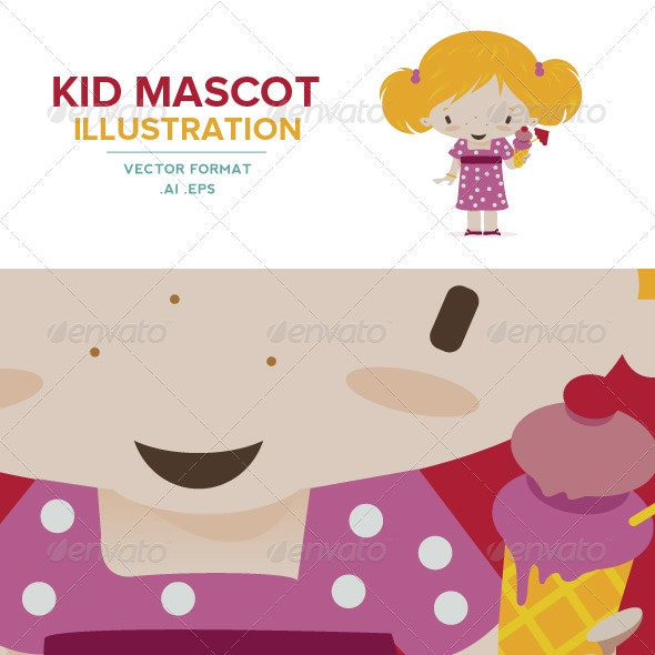 Kid Mascot - Little girl - Characters Vectors