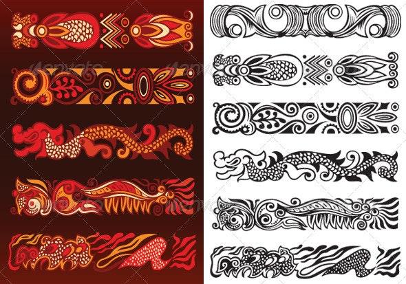 Decorative Ornament Elements - Borders Decorative