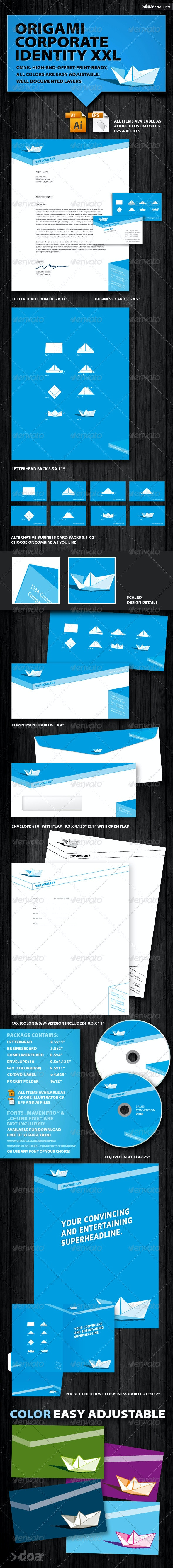 Origami Corporate Identity XXL - Stationery Print Templates