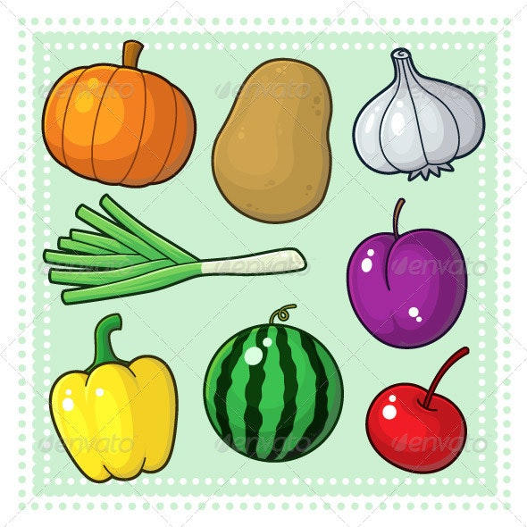 Fruits & Vegetables 04 - Food Objects