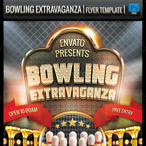 Bowling Extravaganza Flyer Template