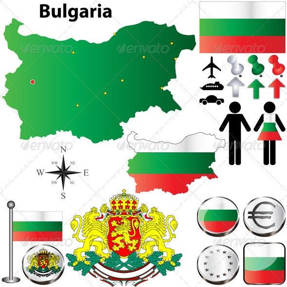 Bulgaria Map - Travel Conceptual