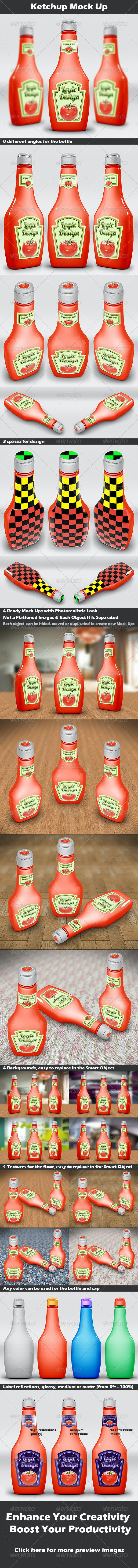 Ketchup Mock Up - Food and Drink Packaging