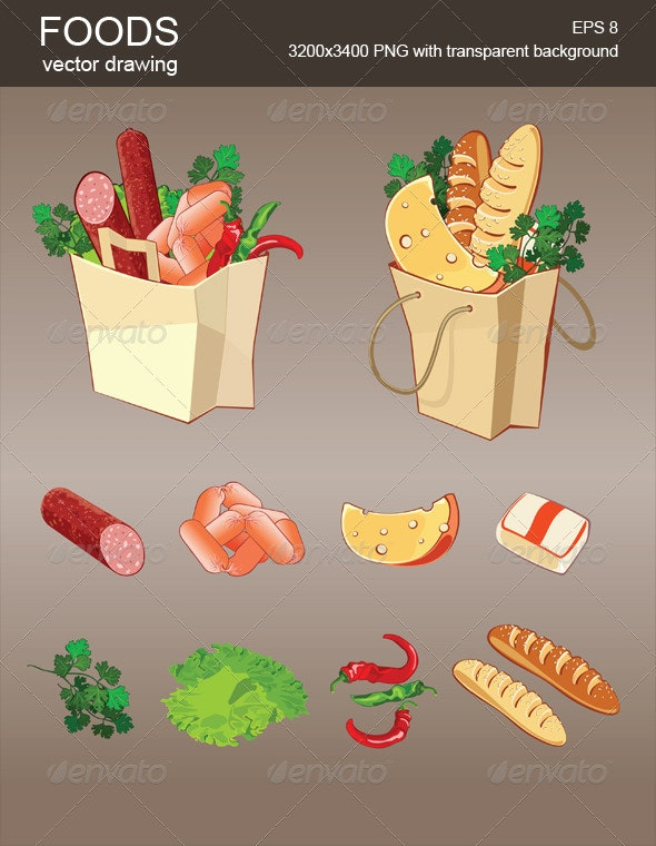 Vector Foods - Food Objects