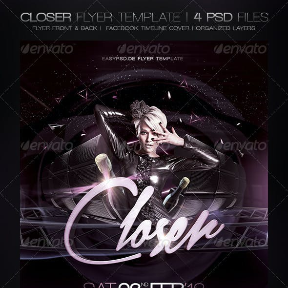 Closer Flyer Template