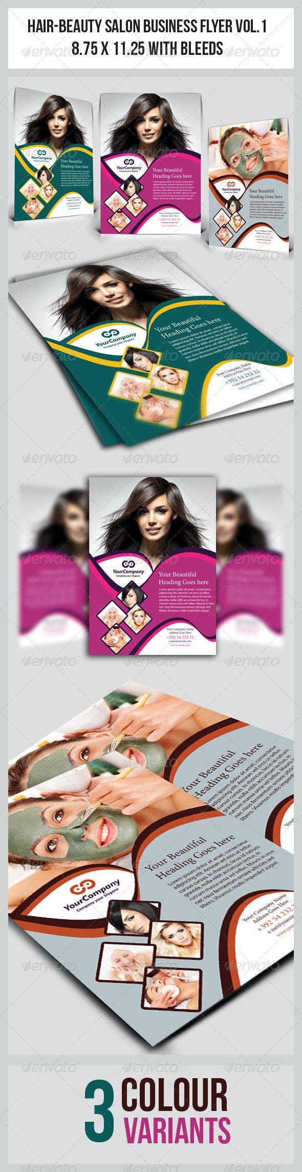 Hair & Beauty Salon Business  Flyer Vol.1 - Corporate Flyers