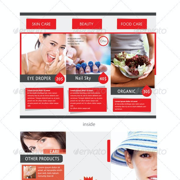 Care & Spa Trifold Template
