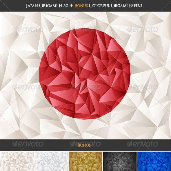 Japan Flag Origami + Colorful Papers Bonus!